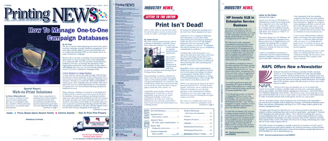 Printing News Article
