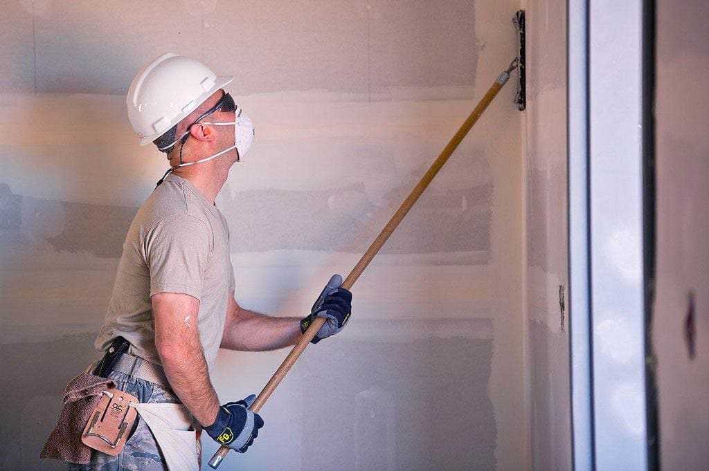 Sanding Down Drywall Before Application of Primer