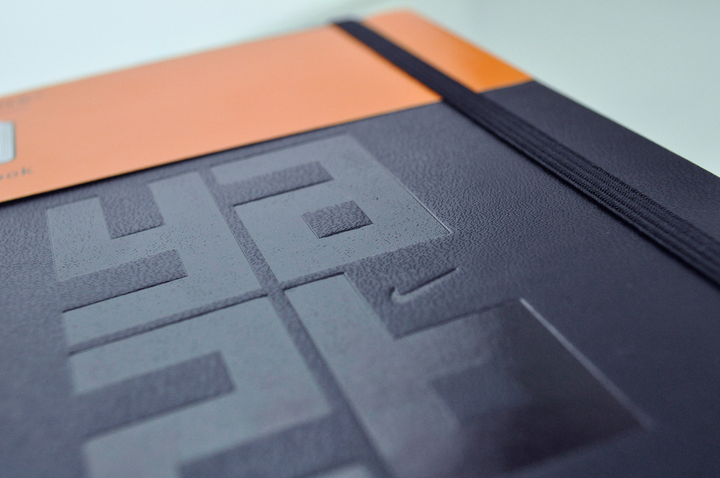 Fine Print Portfolio Image of Moleskin Book with Blind Deboss Cover