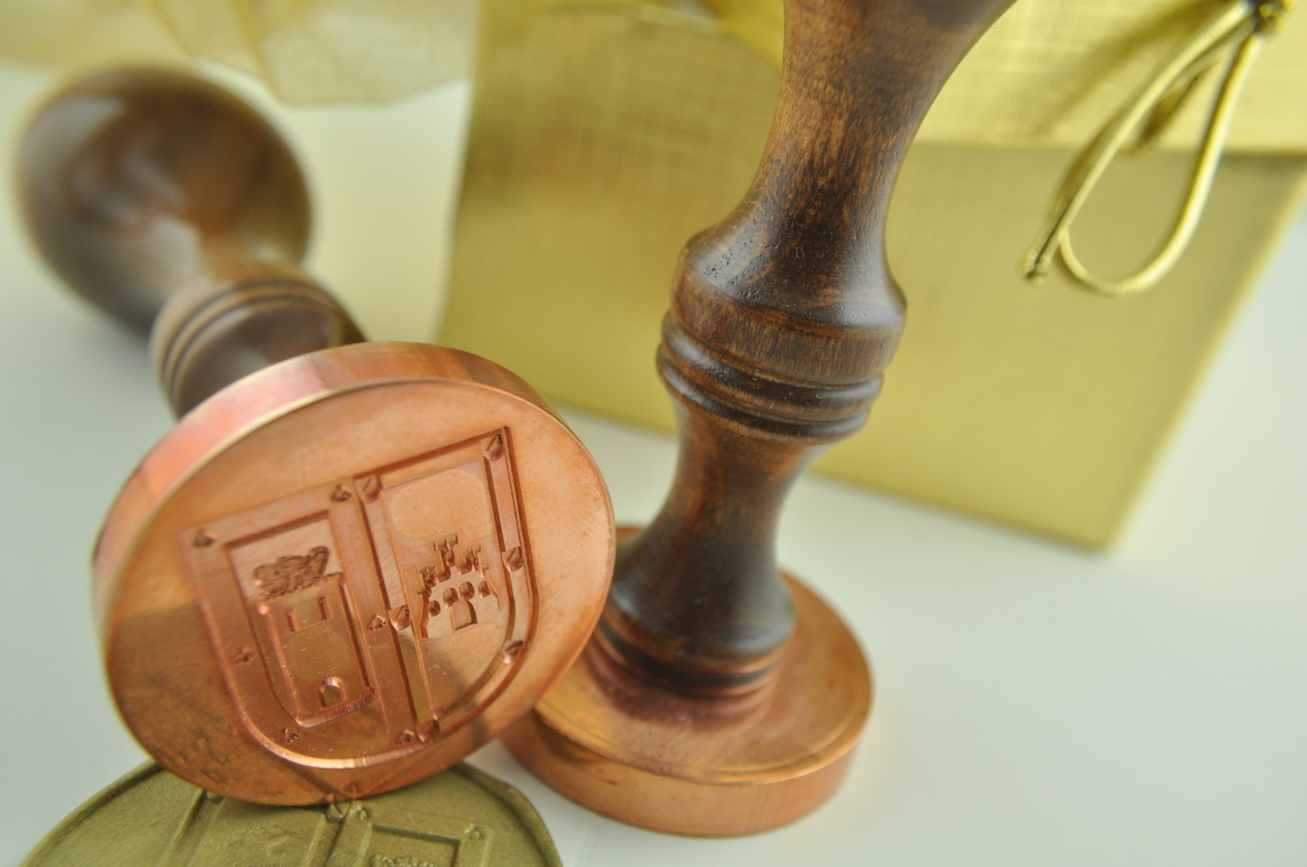 Fine Print Portfolio Image of Copper Wax Stamp and Gift Bag