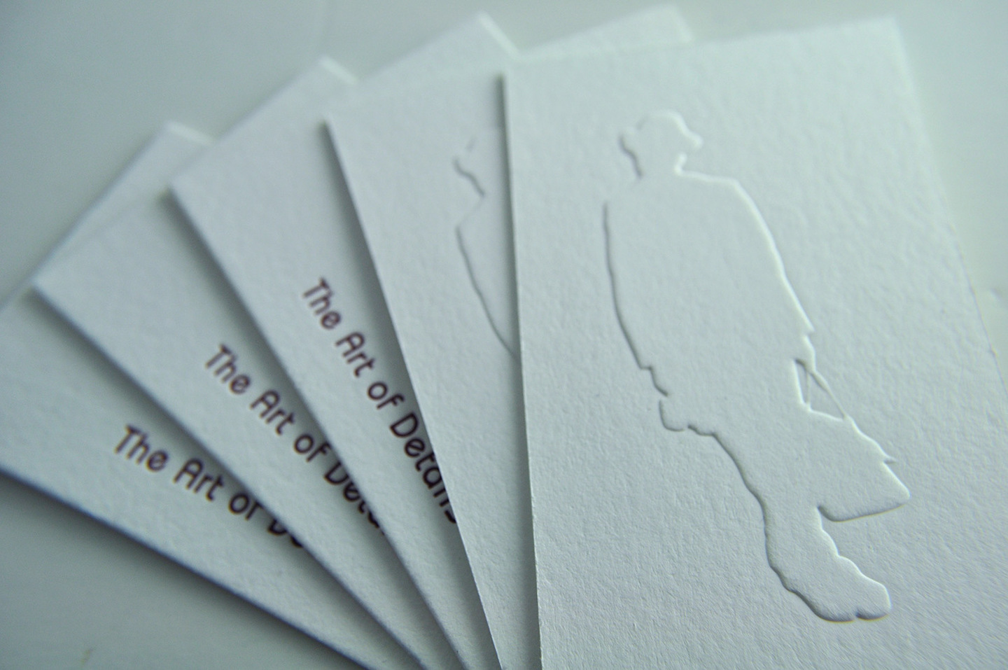 Fine Print Portfolio Image of Business Card with Blind Emboss & Letterpress